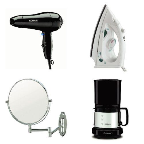 Secadores, espejos, hotel